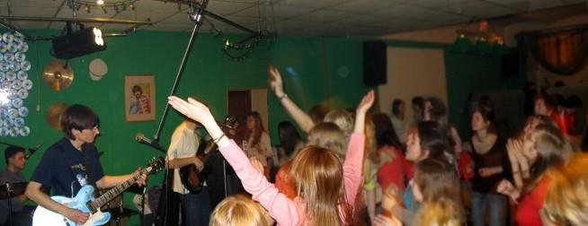 На вечеринках фан-клуба Beatles